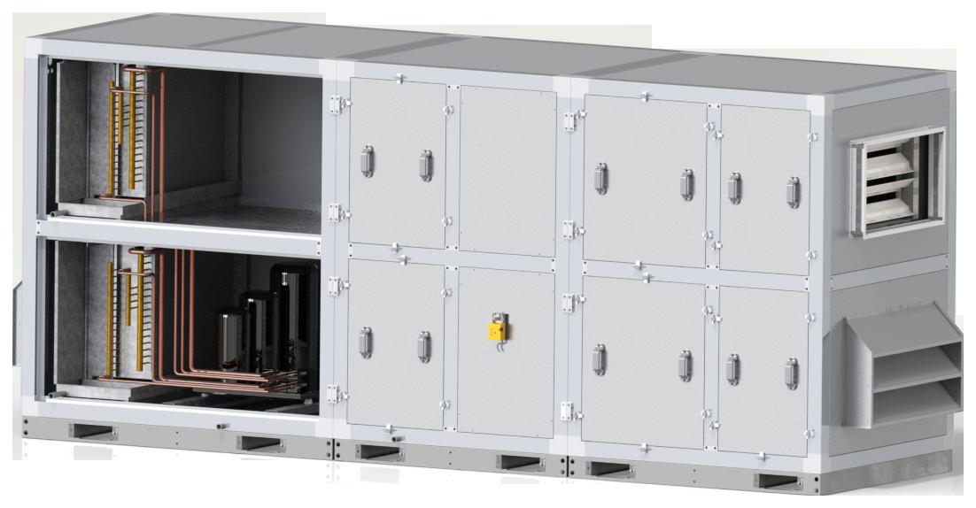 Хибридни климатични камери термодинамични рекуперативни блокове