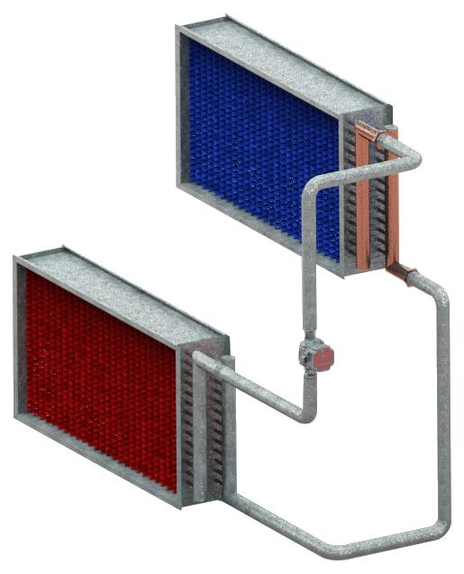Енерговъзстановяване, чрез топлообменници с междинен топлоносител