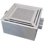 Cassette type ventilation and air conditioning diffuser